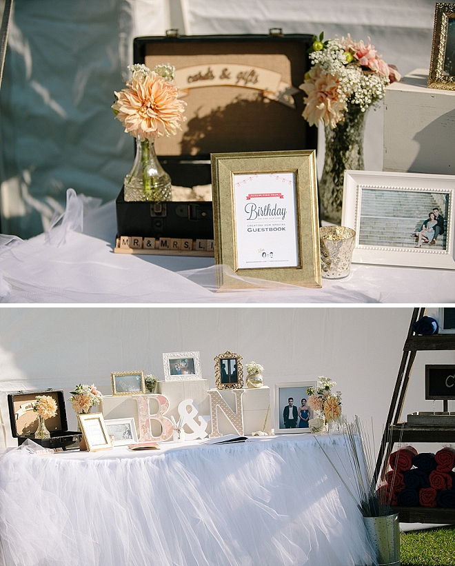 Check out this Mr. and Mrs. cute birthday guest book idea!