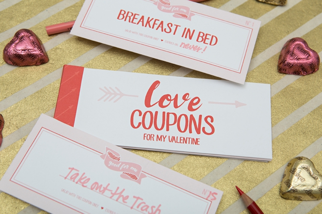 Download, print and make these adorable Love Coupons for your lover this Valentines Day!