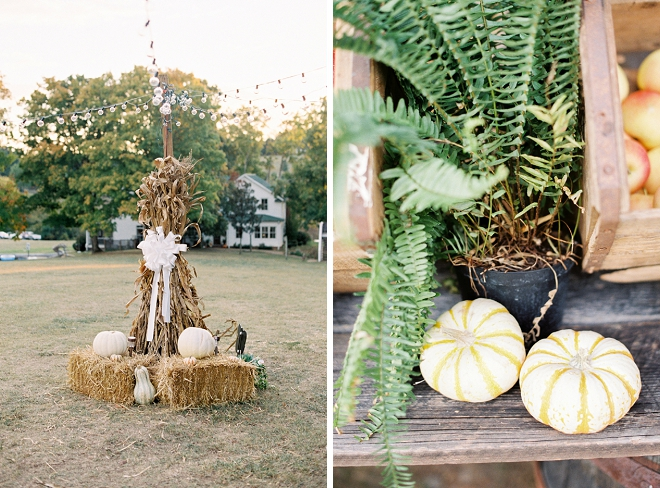 We love this outdoor decor at this stunning Smokey Mountain wedding!