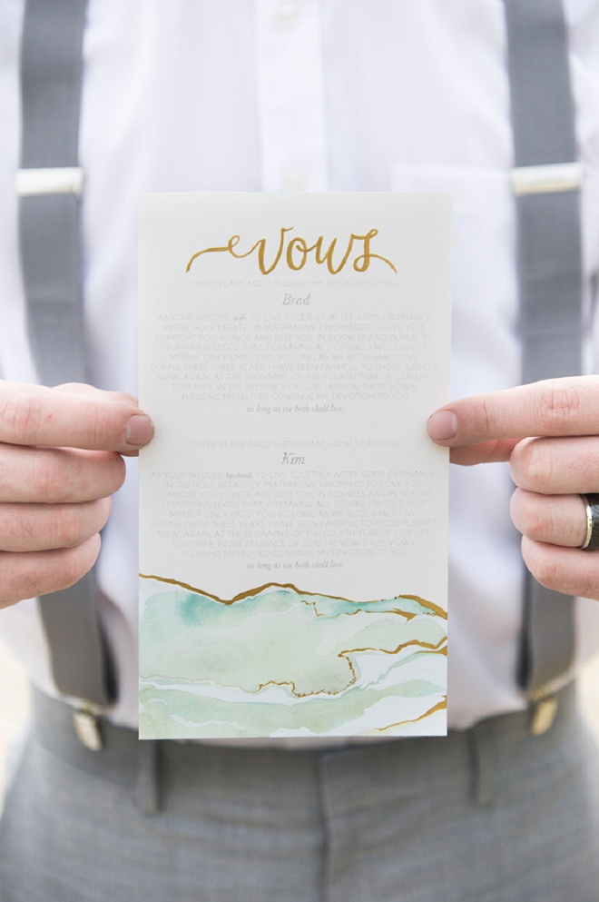 How stunning are these watercolor vows?! We're in LOVE!