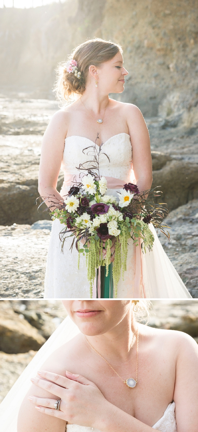 Check out the stunning details of this stunning Bride!