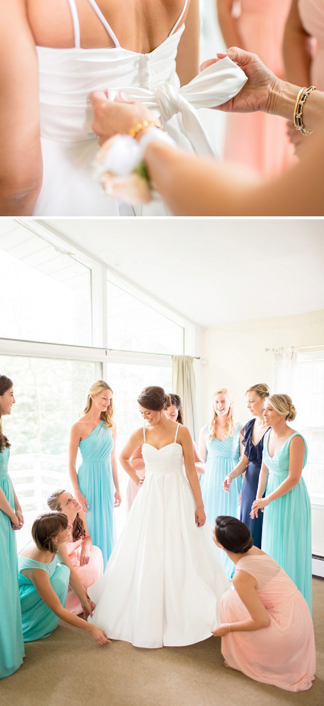 The stunning Bride getting ready with her Bridesmaid's for the big day!