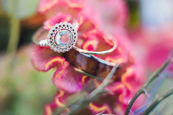 We're in LOVE with this stunning engagement ring shot!