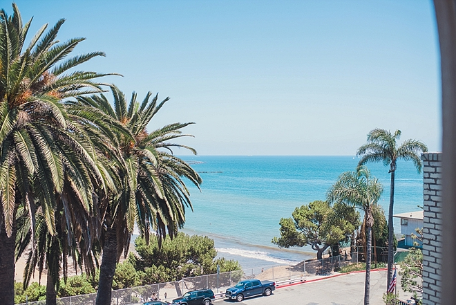 Check out the view from this couple's gorgeous California wedding!