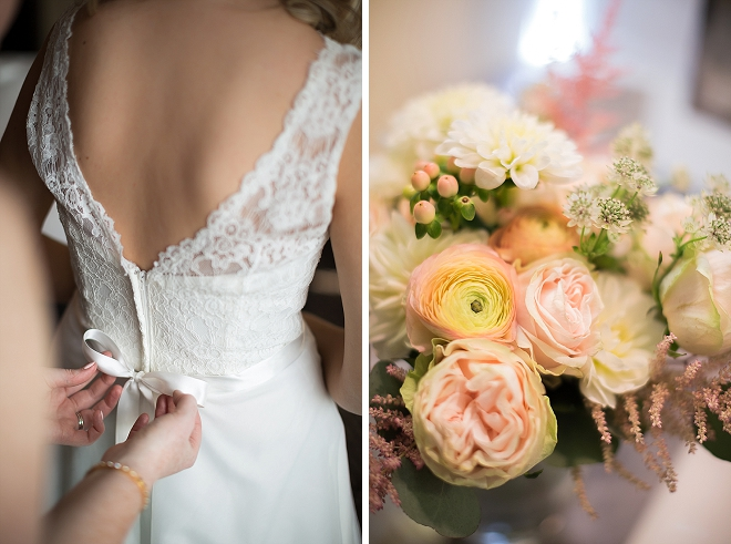 We love this shot of the Bride getting ready for the first look!