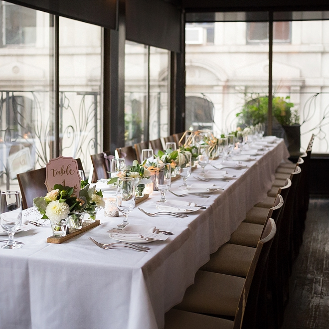 We LOVE this couple's stunning handmade centerpieces!