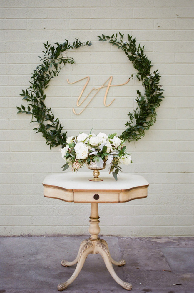 15 Fabulous Greenery Ideas For Your Spring Wedding! on Wall Sconces For Greenery Decoration id=85467