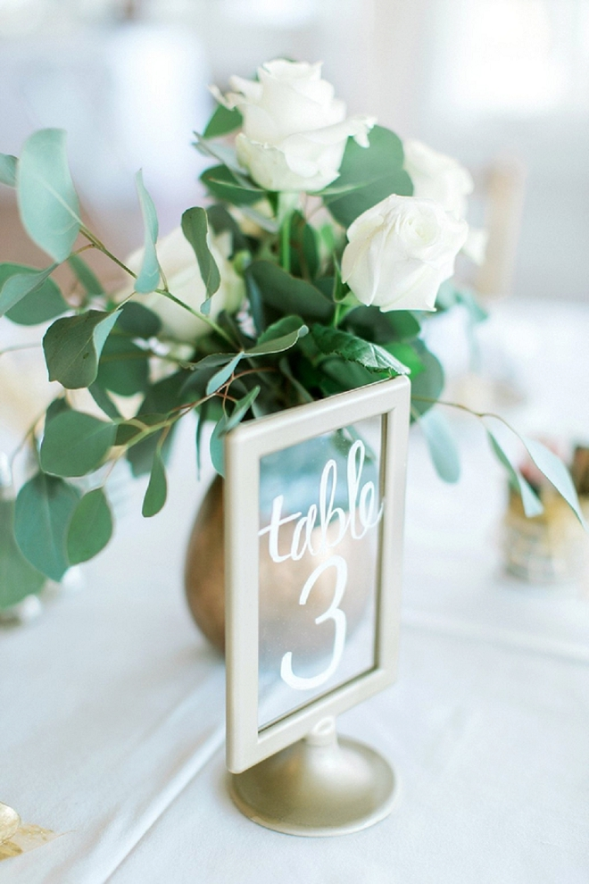Check out these darling and easy table numbers the Bride DIY'd!