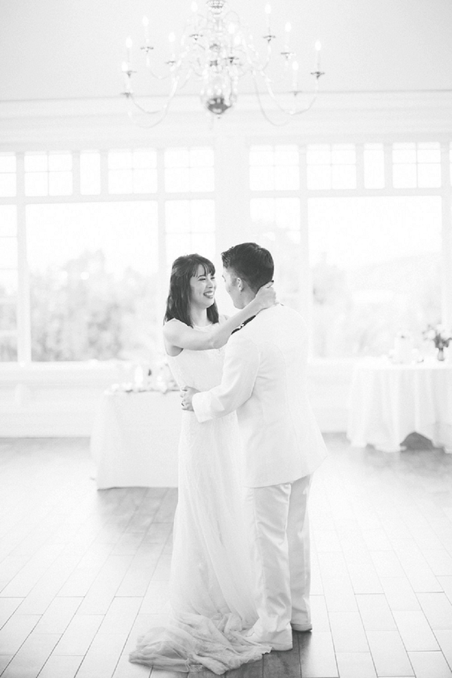We love this first dance shot of the new Mr. and Mrs!