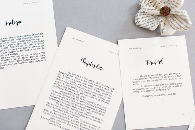 OMG! We are in LOVE with this couple's darling book style invitations!