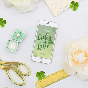 How cute is this Lucky in Love iphone wallpaper!?