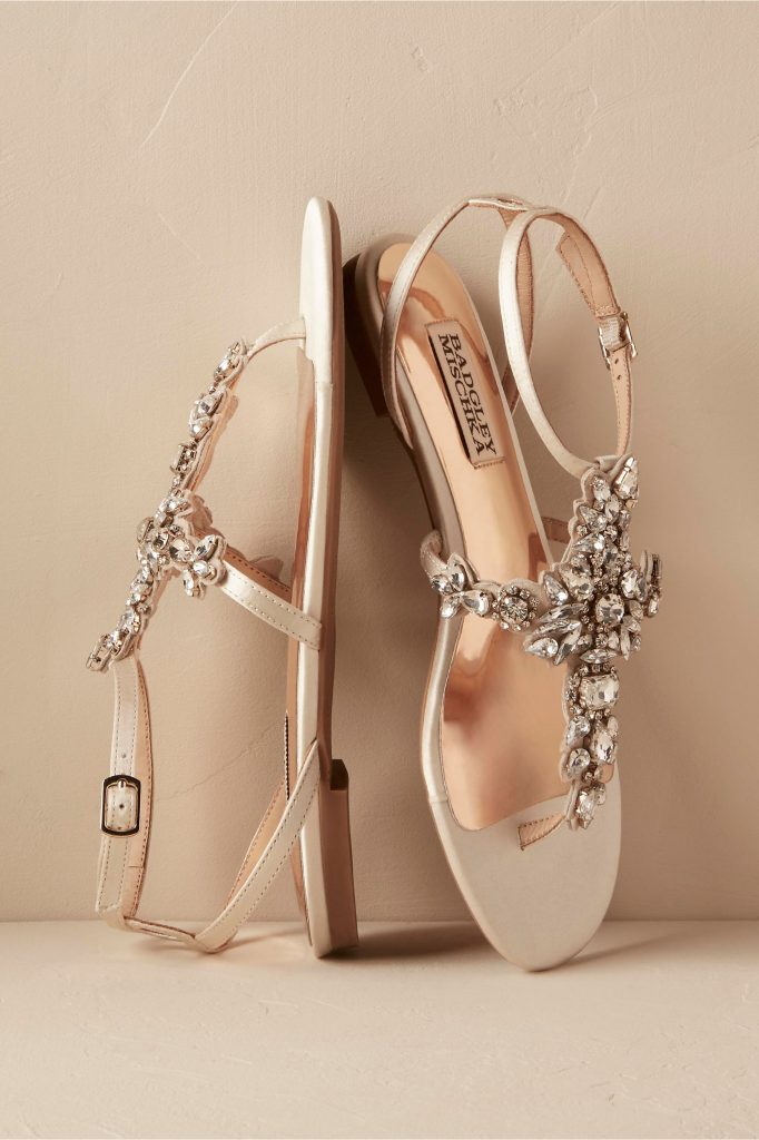 2017 Wedding flats: Badgley Mischka Maldiva Sandals