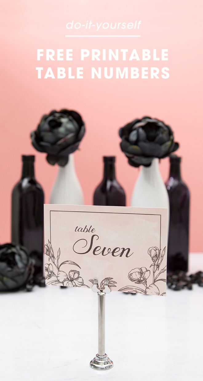 Download and print these floral chic table numbers now for free!