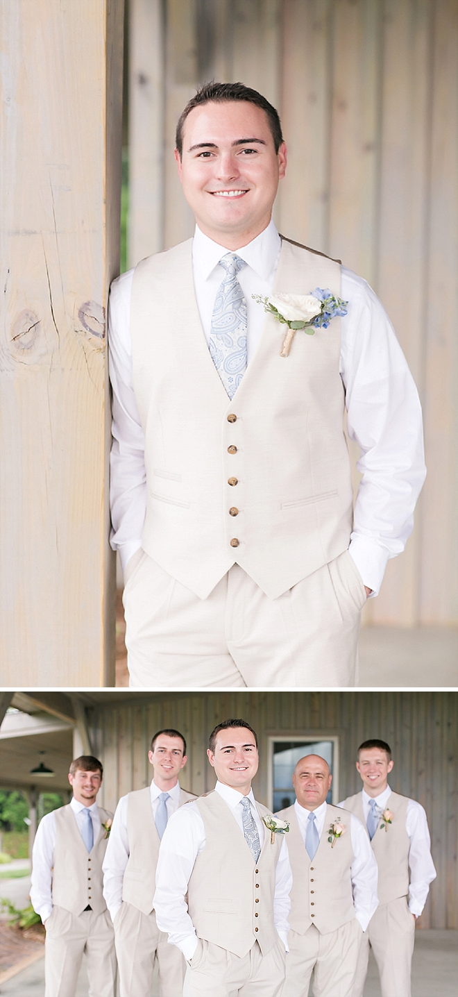 The handsome Groom getting ready to see his Bride!
