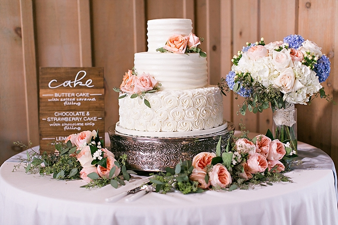 LOVING this darling Mr. and Mrs. and their stunning wedding cake!
