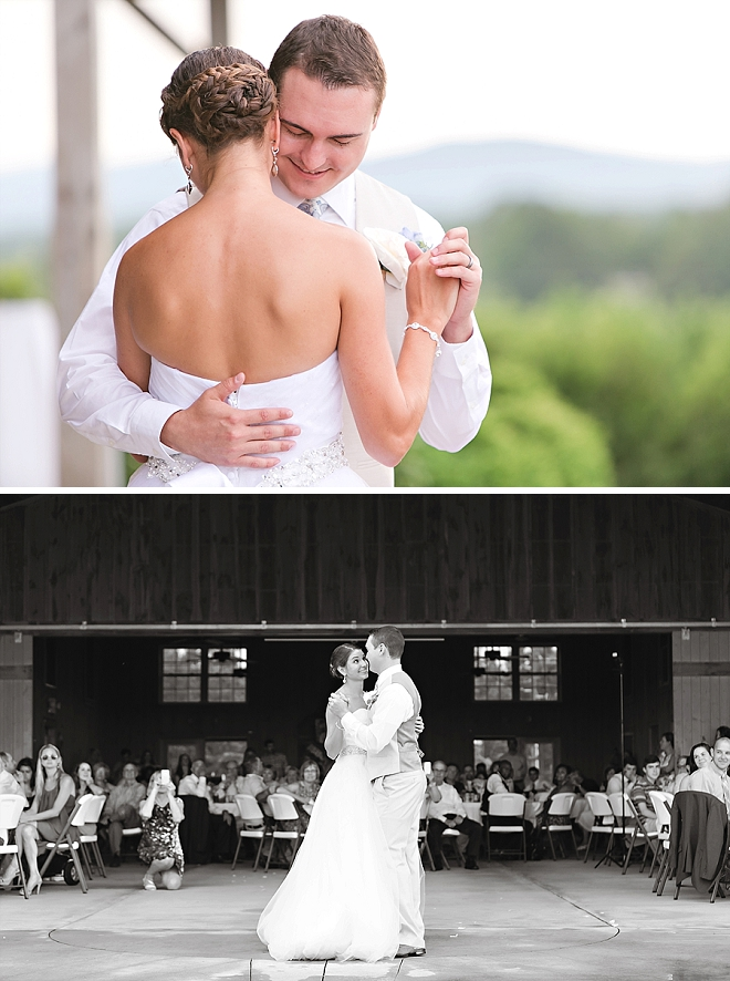 Sweet snaps of this couple's first dance as Mr. and Mrs!