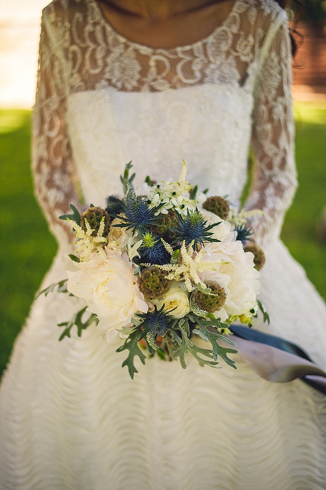 Long sleeve dresses and stunning bouquets are our thing! We're crushing on this one!!