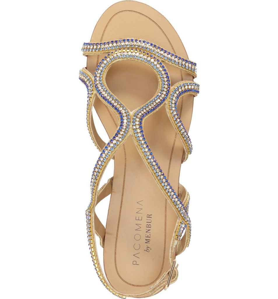 "These would be perfect for wedding flats and even have a little ""something blue"" on them!"
