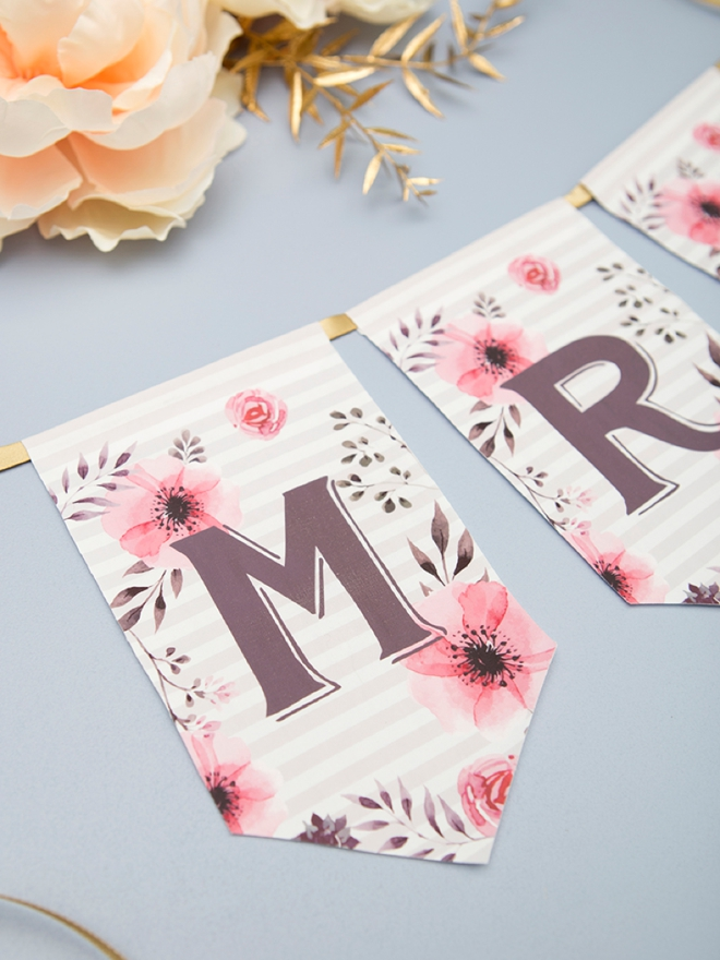 This adorable alphabet banner is free to print and the design was ironed onto fabric!
