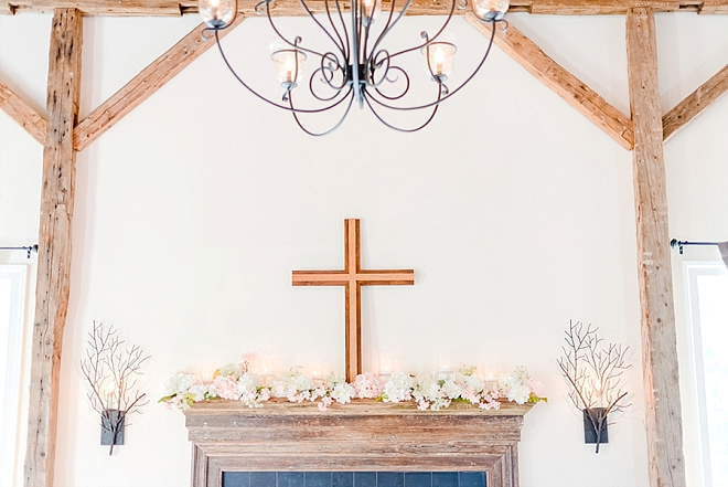 Check out this beautiful cross this Bride's Dad DIY'd for her big day!