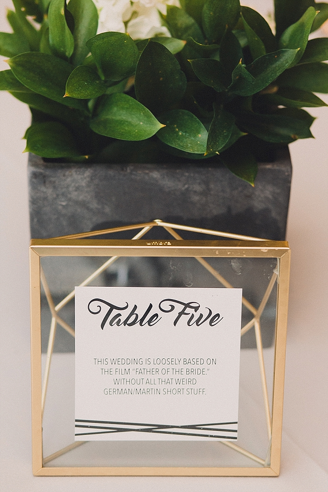We love this darling table number idea with movie quotes!
