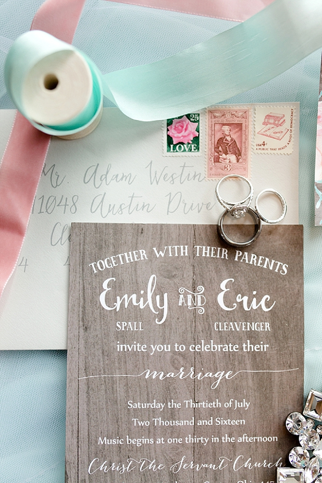 Check out this Bride's darling and sparkly wedding day details!