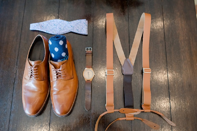 Loving this Groom's wedding day details!