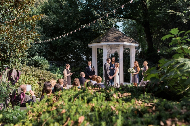 This outdoor ceremony with this Mr. and Mrs. is giving us all the feels!
