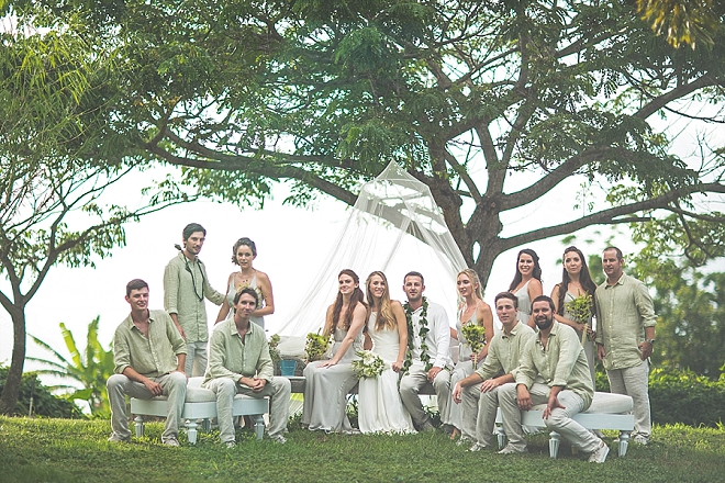 We love this snap of this stunning wedding party in Hawaii!