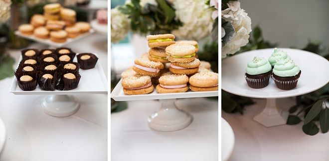 Check out this gorgeous dessert bar filled with cookies and more!