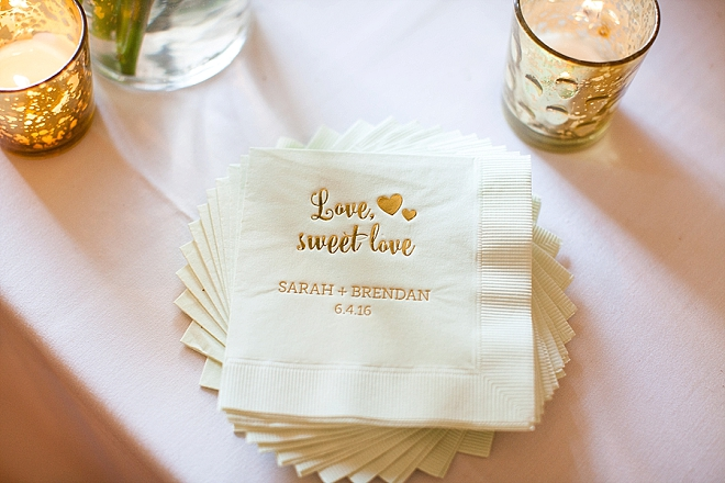 In LOVE with this Mr. and Mrs. and their darling dessert napkins at their dessert table!