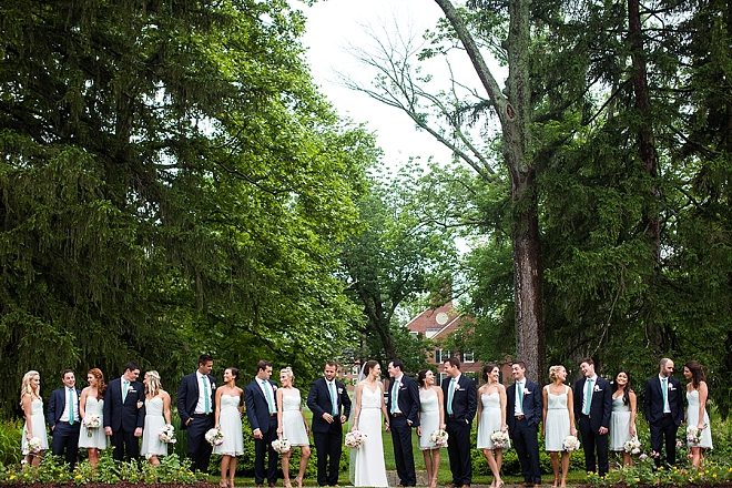 We're in LOVE with this gorgeous bridal party and Mr. and Mrs!