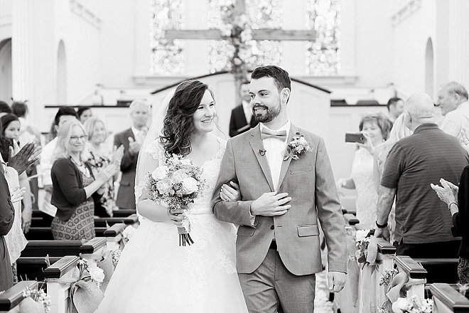 Crushing on this couple's super sweet ceremony!