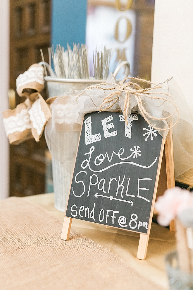 Loving this darling sparkler exit!
