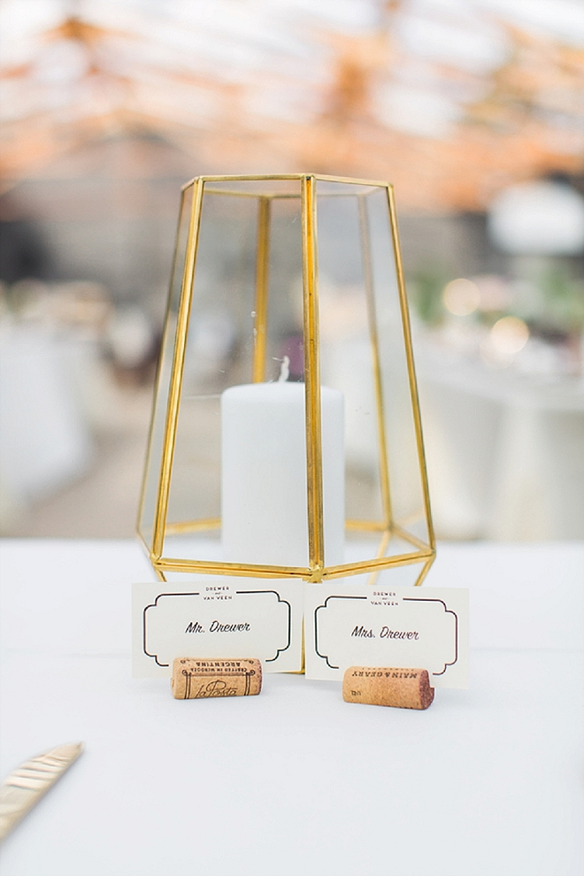 Loving all of these modern details at this couple's crafty reception!