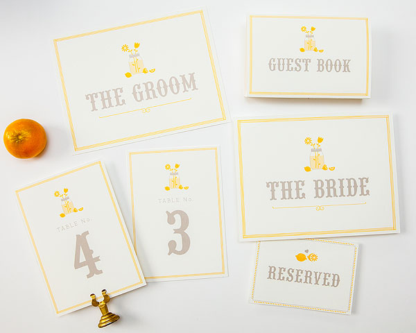 Lemonade theme wedding printables. Oh, and they are FREE!