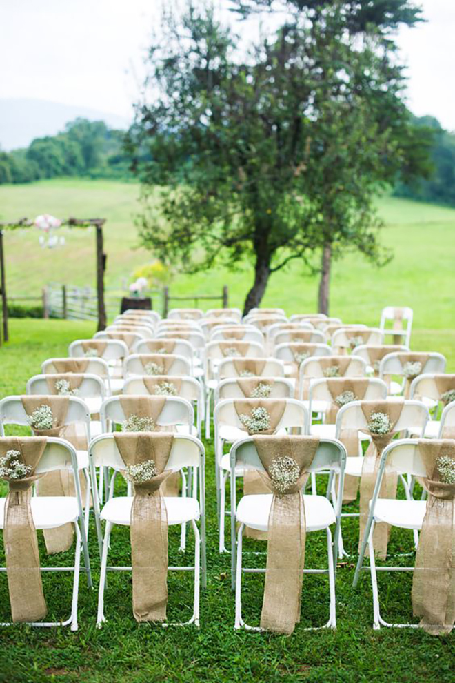 Basic folding chairs can be dressed up.
