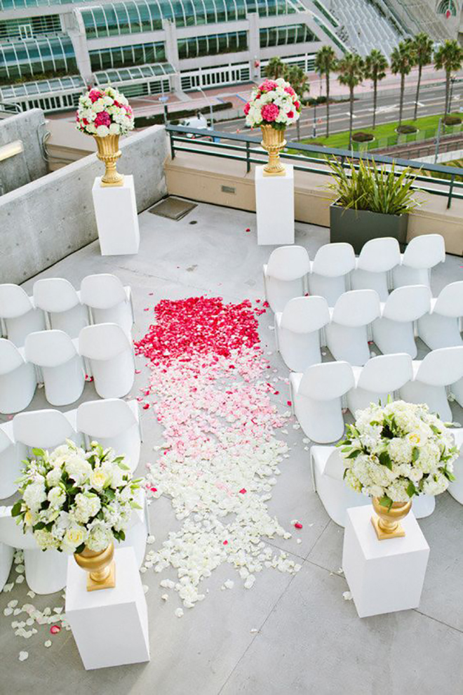 Molded chairs can take a wedding ceremony to the next level.