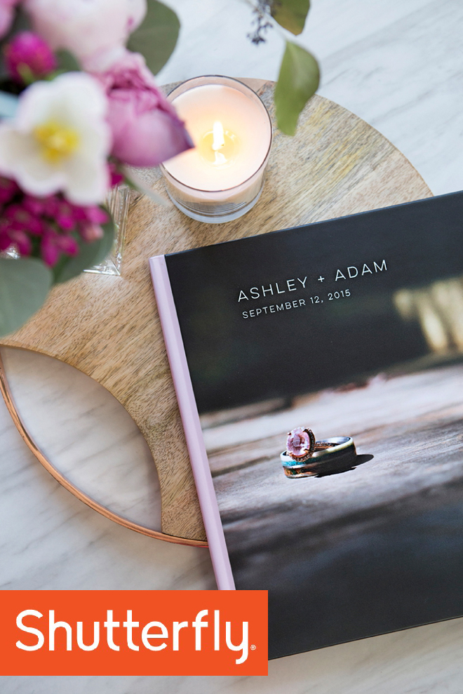 Check out this gorgeous custom, wedding photo book from Shutterfly!