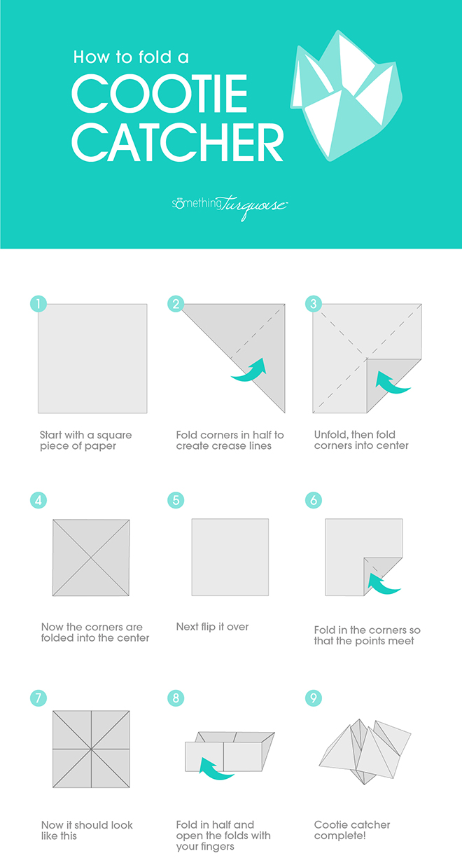 These DIY Mini Cootie Catcher Seating Cards Are EVERYTHING.
