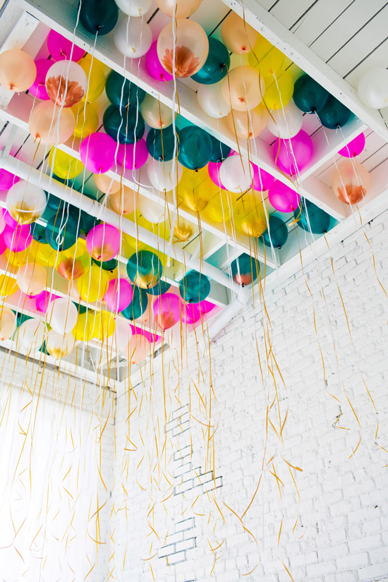Ceiling balloon feature and a DIY balloon project.
