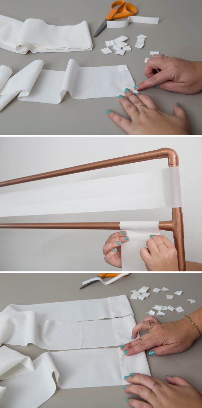 Check out this awesome DIY copper pipe escort card display!