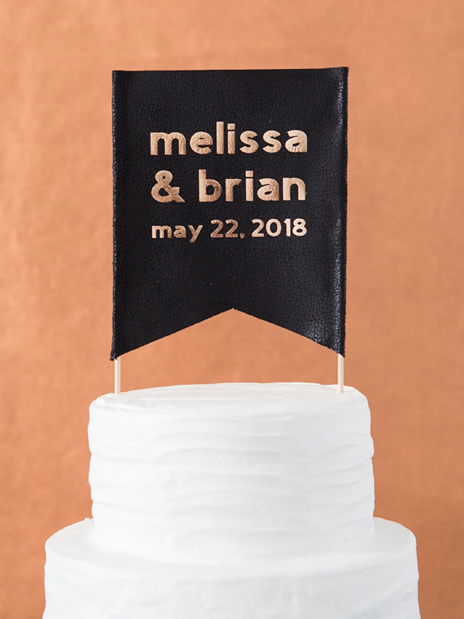 OMG, this cake topper is a DIY and it's super easy!