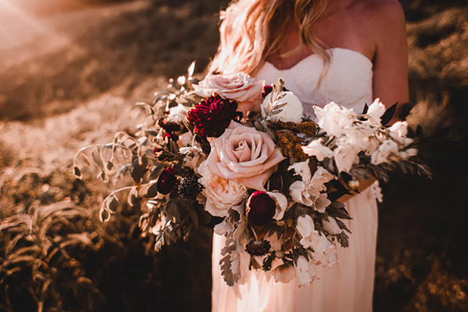 Bountiful fall wedding bouquet.