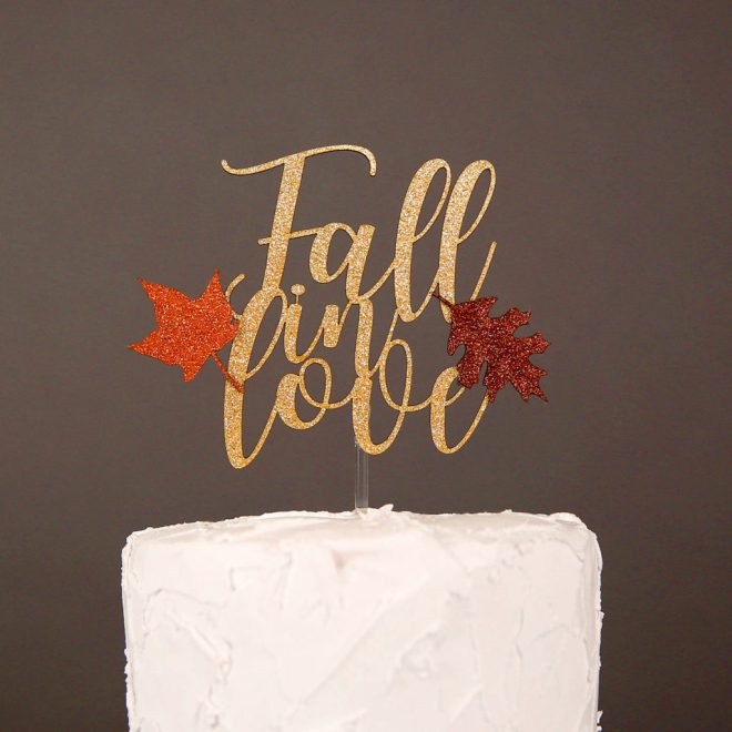 Fall in love cake topper from Party Simplified