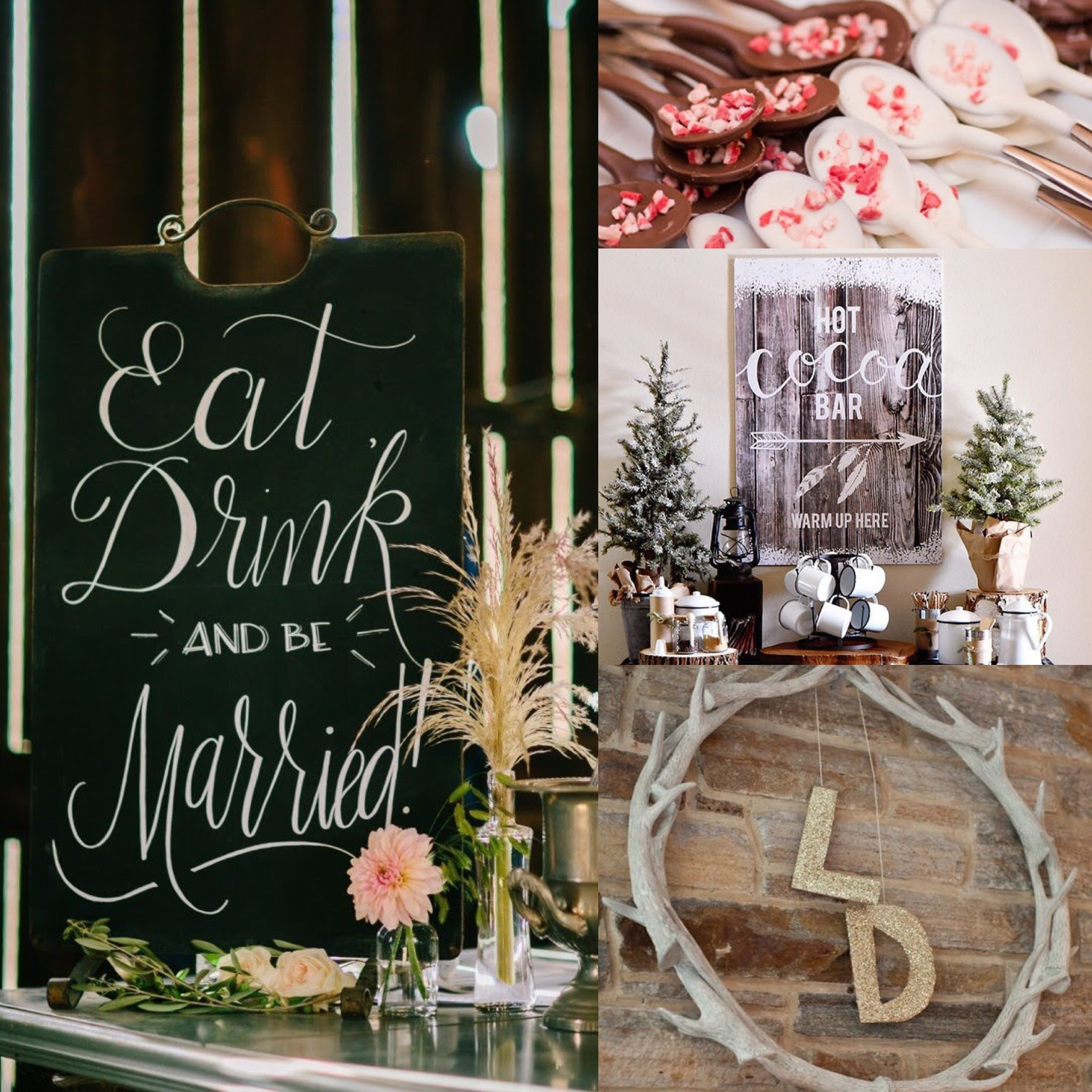 Gorgeous holiday themed bridal shower inspiration