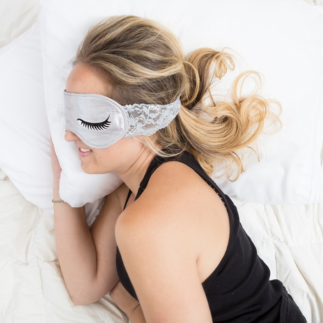 These DIY personalized bridal sleep masks are everything!