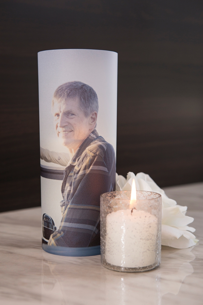 Print your favorite photo on vellum to create a DIY lantern memorial at your wedding!