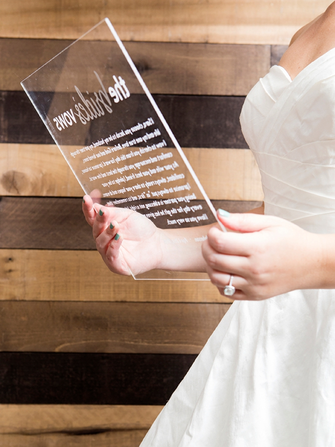 These Personalized Acrylic Vow Boards Are Everything