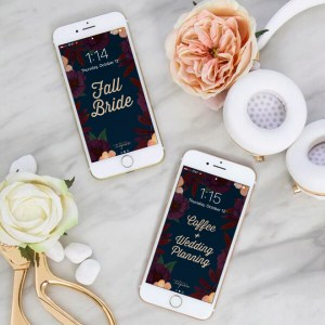 The fall wedding planning iPhone wallpapers are SO cute!